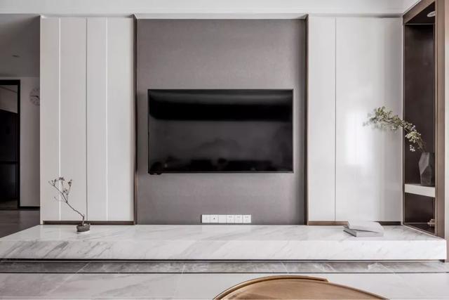 新中式客厅电视墙,典雅端庄,气派大方