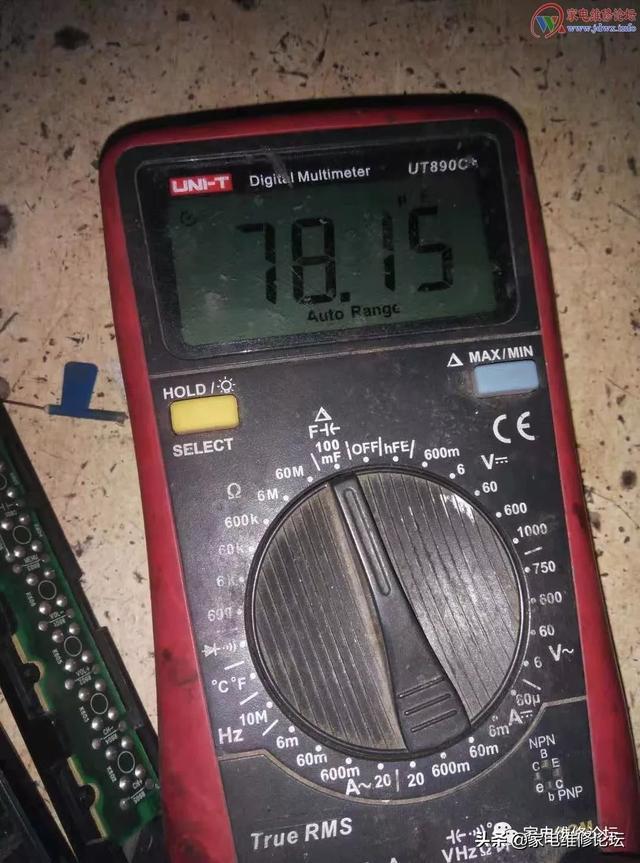 加热法修复液晶电视L32E9BD电源指示灯闪烁不开