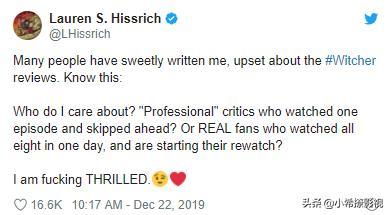 """影评人""""差评""""《猎魔人》,制片人霸气回应:观众连看8集"""