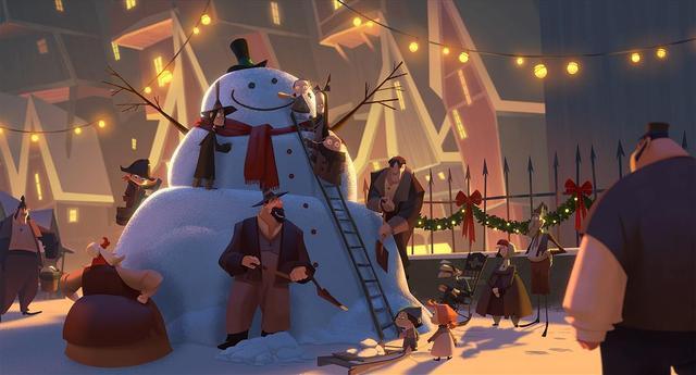 评《克劳斯:圣诞节的秘密》:脑洞很大的圣诞主题故事,剧情暖心