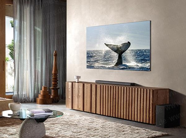 三星无边框8K QLED电视Q900T宣传照曝光